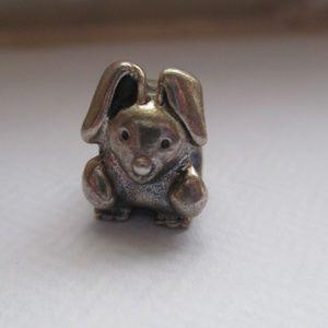Authentic Pandora rabbit bunny charm/bead 790309